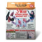 The Screw Up Quick Kit for installing hook screws